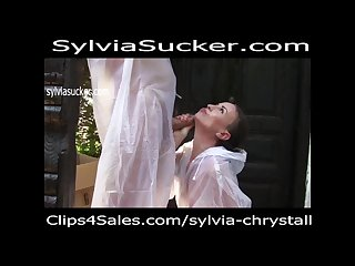 Teen gives head outdoor next swallowing all of the cum sylvia chrystall