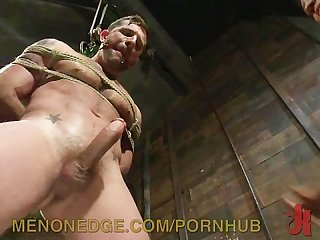 Muscular slave gets brutal sexual punishment