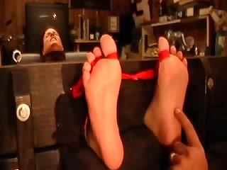Ariel s stocked feet m f tickling
