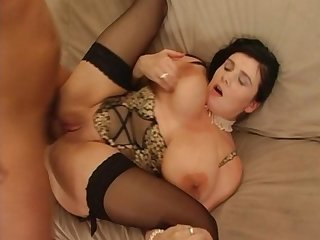 Bozena get fisted by another bbw and then get screwed