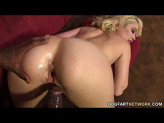 Tiffany fox enjoys uncut black dick