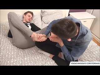 Feet licking fetish loving gays
