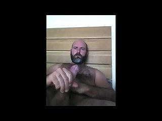 Handsome dady jerks off cums