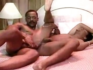 Vintage double room B w action in gay Motel