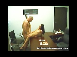 Married wife fucks her boy toy in her office at work