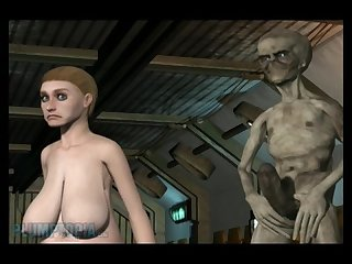The alien abduction breast expansion full Cartoon