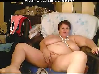 Bbw russian granny with huge tits masturbate