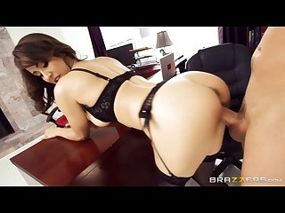 Hot brunette boss fucks her coworker brazzers