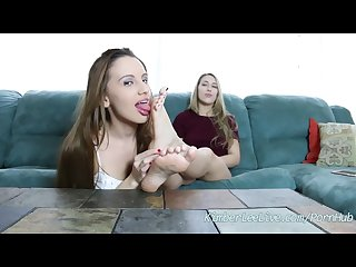 Teens kimber lee ashlynn worship each others feet