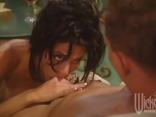 Asia carrera sydnee steele having a steamy orgy with two lucky bastards
