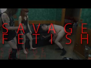 Savage ball destruction femdom humiliation Ballbusting