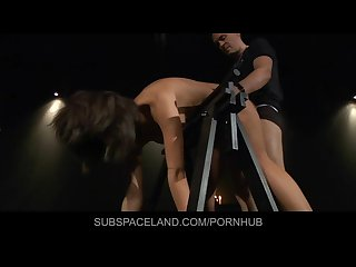 Melanie masturbated while tied up and spanked