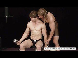 Bodybuilders anal sex