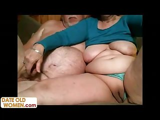 Homemade sex tape of old chubby couple