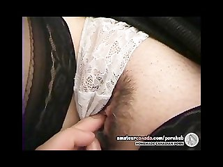 Geek hairy girlfriend Natalie gives pov blowjob and gets fucked