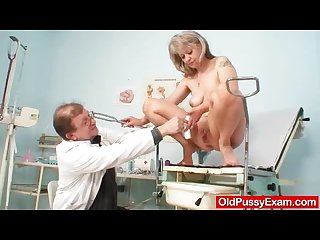Beautiful blonde milf alena hole doc exam