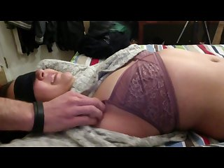 An 18 year old college student upperbody tickling fantasy secret cumshot
