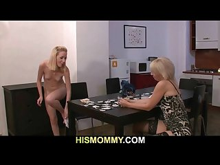 Girl getting toyed by his mom