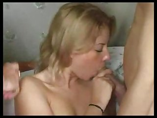 Russian girl double nailed