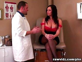 Vannah sterling voluptuous brunette rides doc s cock