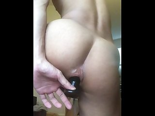 Went to gym with chastity and butt plug in my hole