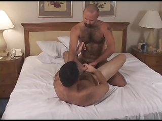 Hairy dad fucks cub