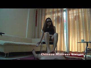 Chinese teen footjob and handjob