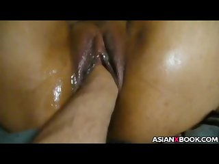 Asian pussy gets fisted and fucked