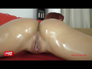 German tattoo girl masturbate in oil with dirtytalk