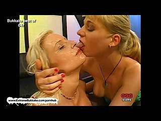 Melanie and her friend clean each other s jizzed faces with their tongues