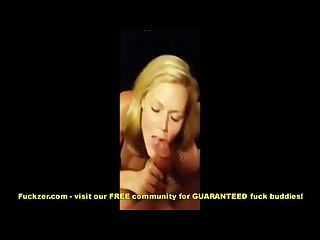 Naughty milf gives internet stranger a blowjob