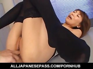 Jun kusanagi asian milf gets pussy licked and anus fingered before hardcore
