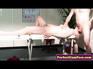 Massage turns into blowjob