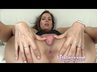 Lelu love super closeup pussy spreading asshole puckering