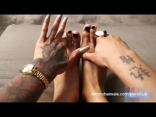 Fetish shemale sexy shemale feet and tranny toes compilation