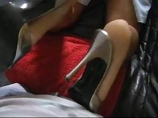 Hot footjob from sexy german milf lydia
