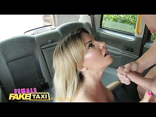 Femalefaketaxi blonde cab driver loves cock