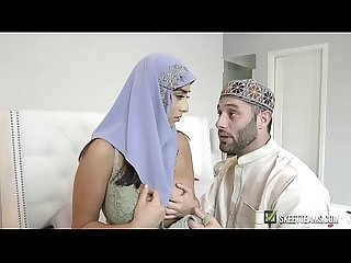 Hot busty arabian queen fucked hard