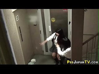 Japanese teens aim piss in public