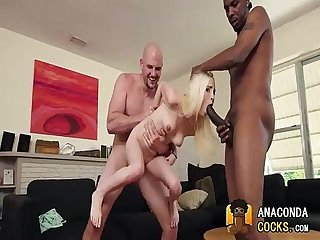 Interracial porno with pretty nympho and bbc
