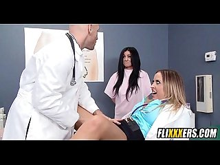 Doctor and nurse take break for sex 1