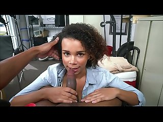 BLACK LOADS - Cute, Young Black Girl Named Ravel Sucks & Fucks During Casting