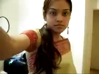 Indian cute Girl sripping Saree exposing her boobies