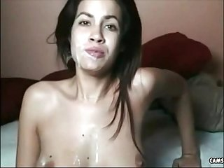 Great Facial on beautiful and Sexy brunette from camskiwi com join free