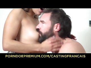 CASTING FRANCAIS - Amateur cutie Lily Hall banged by big cock
