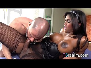 Busty tgirl jennifer rios gets assfucked