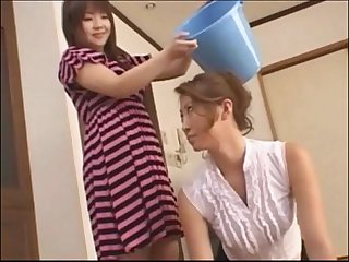Asian teen slaps around her mother foot domination