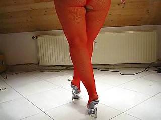 Sarah big butt fish net red