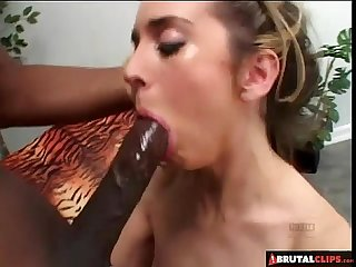 Brutalclips kelly stretches her Ass and pussy for A monster dick