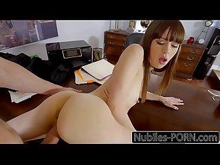Nubilesporn tiny tit slut gets pussy fucked raw